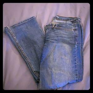 Classic Levis bootcut denim jeans